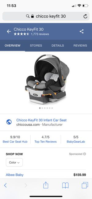 Chicco keyfit 30 infant car seat and base for Sale in Murrieta, CA