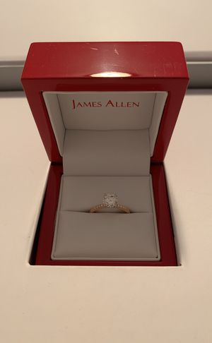 14k rose gold petite pave diamond engagement ring for Sale in Portland, OR