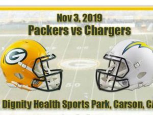 Green Bay vs Chargers two movil tickets for$1000 or best offer section 139 row X seat 9 an 10 for Sale in West Covina, CA