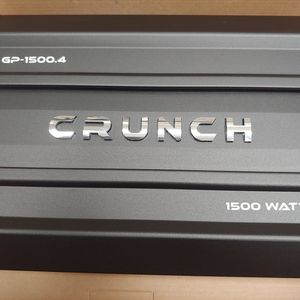 Car amplifier : brand new CRUNCH 1500 watts 4 channel built in crossover 40 ×1 fuse ( brand new ) for Sale in South Gate, CA