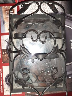 Candle light mirror wall piece lil glasses or candles NOT included for Sale in Pasadena,  TX