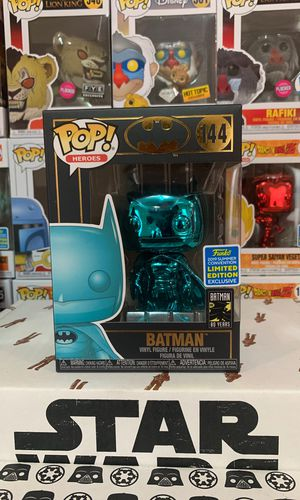Sdcc 2019 Gamestop shared Exclusive teal chromed Batman #144 for Sale in Miami, FL