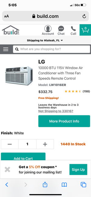 LG window AC unit brand new for Sale in Spring Hill, FL