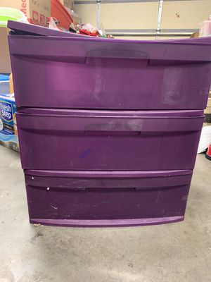 3 drawer storage cart with wheels. $6.00 for Sale in Rogers, AR
