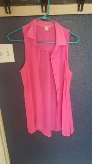 Candies Hot Pink Button Up Tank Size M for Sale in Enumclaw, WA