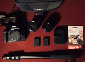 Canon T6I 2x Lens + Double Battery. for Sale in Las Vegas, NV