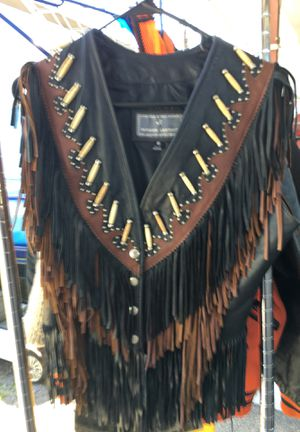 Leather fringe coat new for Sale in Gulfport, MS