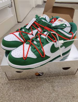 Off White X Nike SB Dunk Pine Green Size 10 for Sale in Creighton, PA