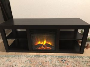 TV stand / entertainment center with electric fireplace for Sale in Peoria, AZ