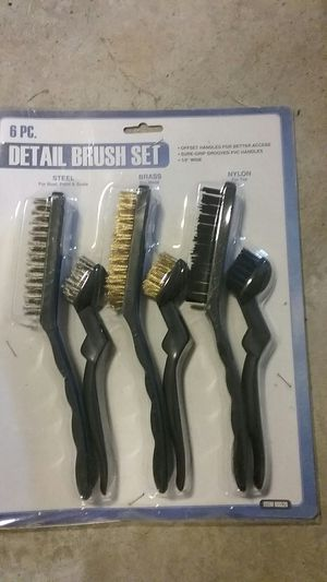 New in package 6pc Detail Brush Set for Sale in North Tonawanda, NY
