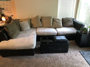 Large Sectional and Ottoman for Sale in Auburn, WA