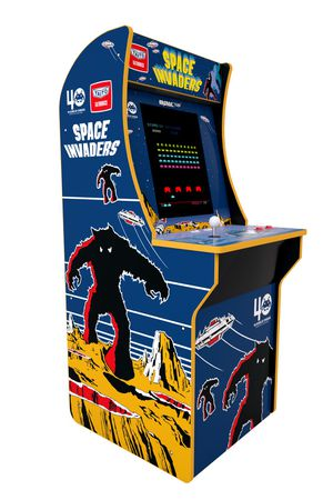 THOUSANDS OF GAMES Space Invaders Arcade 1up with LED BUTTONS for Sale in Irving, TX
