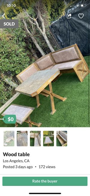 Free wood table- needs sanding and finish for Sale in Los Angeles, CA