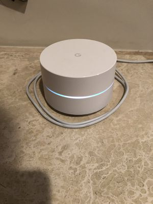 Google Wifi AC1200 Dual-Band Mesh Wi-Fi Router - White for Sale in Burbank, CA