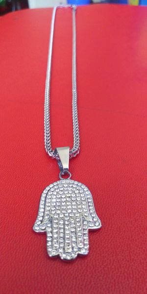🚚💨I deliver🚀I Ship...😍😍💎White Gold plated 💦3mm Necklace and charm🌟🌟🌟🌟🌟 for Sale in Fort Lauderdale, FL