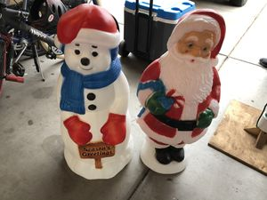 2 classic vintage Christmas light up blow mold molds for Sale in Queen Creek, AZ