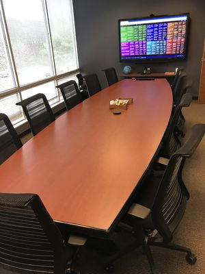 Conference table with matching console table for Sale in Brentwood, TN