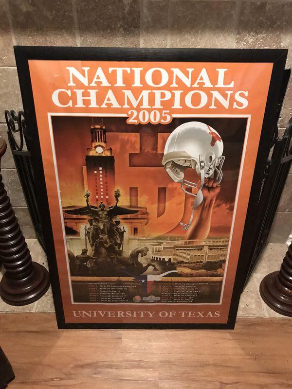 REDUCED!!! Longhorns 2005 National Champions Framed Print