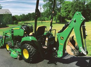 John Deere 1023E Tractor Loader Backhoe 54D Mower for Sale in Atlanta, GA