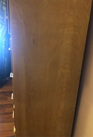 Wood Dresser 7 drawer / mini closet for Sale in Los Angeles, CA