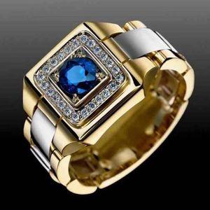 Blue Sapphire Quartz 18K Gold Filled Men's Ring Size 10-11-12 for Sale in Miami, FL