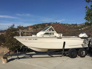 Fishing boat and trailer. 21 ft Glastron. for Sale in Poway, CA