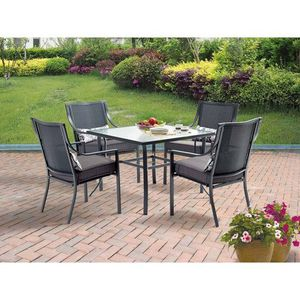 Mainstays Alexandra Square 5-Piece Outdoor Patio Dining Set, Grey for Sale in Houston, TX