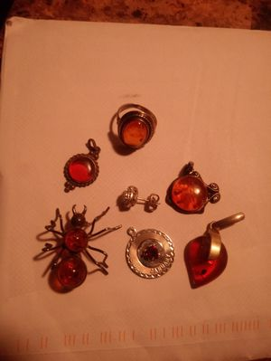.925 Amber jewelry nice collection for Sale in Crystal City, MO