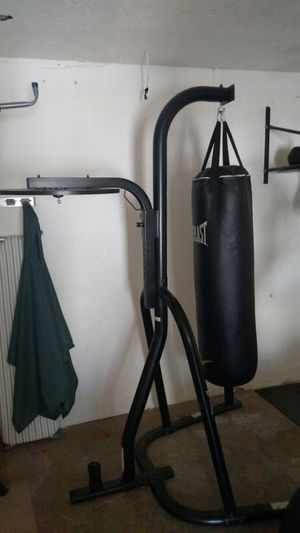 Everlast heavy bag with mount and with speed bag holer for Sale in Dunedin, FL