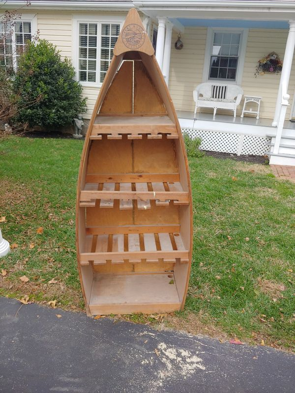 Boat with shelves