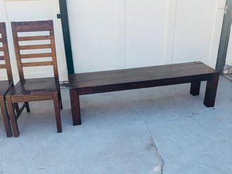 Nice Set 4 Solid Wood And Bench !!! for Sale in Fresno,  CA