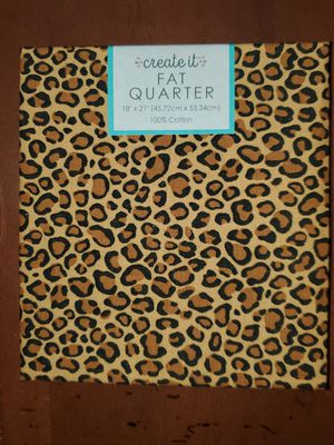 Leopard print fabric for Sale in Dixon, MO