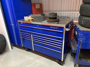 Snap on tool box w/ side cabinet and stainless top for Sale in Winter Hill, MA