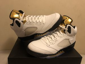 """Air Jordan Retro 5's """"Olympic Gold Medal"""" for Sale in Brooklyn, NY"""