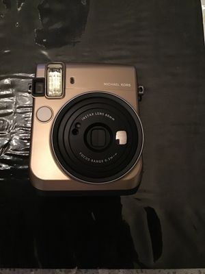 Michael Kors Limited Edition Instax (fuji film) w/ brown leather case, mini photo frame,color close up lens,film skin & mono chrome instant film w/ b for Sale in Los Angeles, CA