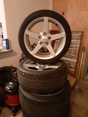 Corvette z6 rims and tires. full original set. no damage and good tires. will let go for 800$ for Sale in Pompano Beach, FL