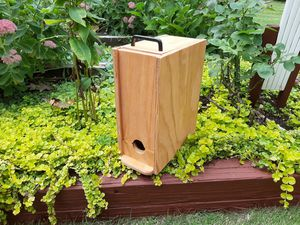 Solid wood wine bag holder/dispenser for Sale in Wolcott, CT
