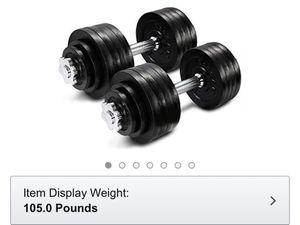 105.5 lb adjustable dumbbells for Sale in Fairfax, VA