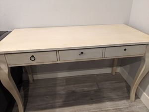 Off white wood desk for Sale in San Diego, CA