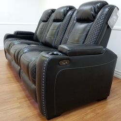 🤙👉In STOCK 👈🤙Ashley Brand New [EXCLUSIVE] Party Time Midnight LED Power Reclining Living Room Set with Adjustable Headrest 👈 Sofa And Loveseat 👉 for Sale in Lanham,  MD