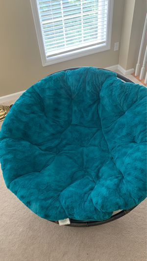 Pier 1 Papasan chair - frame and teal cushion for Sale in Southbury, CT
