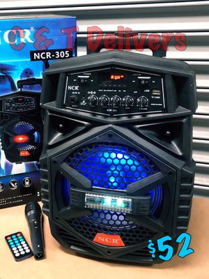 2,500 Watts* Con Bluetooth - Radio - USB - Aux & 🎤 • Portatil • Recargable • Nuevas en Caja 💥 Mucho Party for Sale in Carson, CA