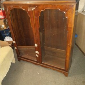 Antique Glass Bookcase for Sale in Port Tobacco, MD