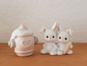 *Authentic Precious Moment figurines - rabbit couple & a fire hydrant for Sale in Rancho Cucamonga, CA