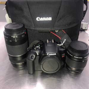 Canon EOs Rebel T6 With Two Lens And Bag for Sale in Garland, TX