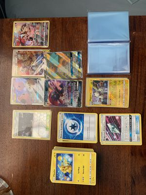 Assorted Pokémon cards w storage box & sleeves! for Sale in Antioch, CA