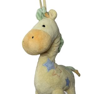 Carter's Just One Year Yellow GIRAFFE Musical Crib Pull Plush Stuffed Toy Star for Sale in Beaverton, OR
