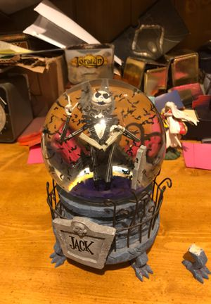 Nightmare before Christmas music box snow globe disney for Sale in Lemont, IL