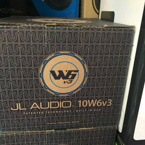Jl audio 10w6v3 on sale today message us for the best deals in LA today for Sale in Carson, CA
