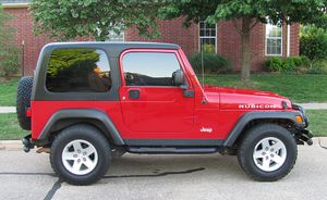 Red 2004 WRANGLER JEEP 4X4 AWDWheels Good for Sale in Manchester, NH